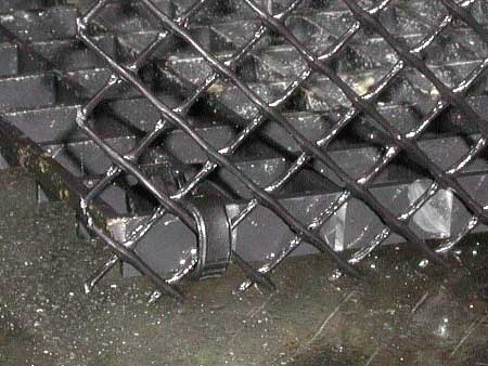 Figure 4 Plastic Gutter Guard Attached To Black Egg